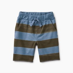 Cruiser Baby Short Cornflower Stripe 3-6M