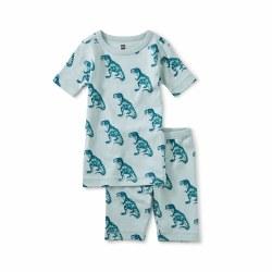 Patterned Dino Shortie PJs 2