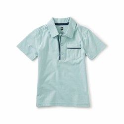 Piped Polo Canal Blue 3