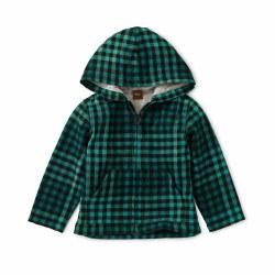 Plaid Zip Baby Hoodie Bl 18-24
