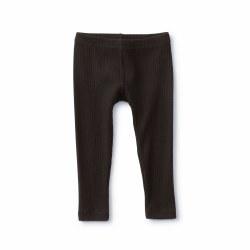 Pointelle Bby Leg Black 12-18M