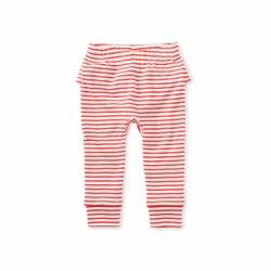 Ruffle Baby Pant Scarlet 3-6M