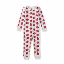 Strawberry Pt LS Baby PJ 3-6M