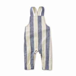 Stripe Bb Overall Astral 0-3M