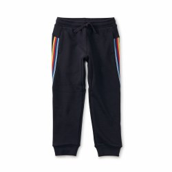 Stripe-Out Jogger Indigo 8