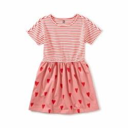 Sweetheart Print Mix Dress 2