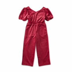 Velour Ready Jumpsuit Red 4