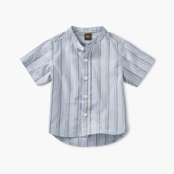 Woven Baby Shirt Dusty Blue 18-24M