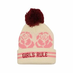 Girls Rule Pom Beanie S/2-5Y