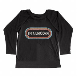I'm a Unicorn LS Tee Blk 3