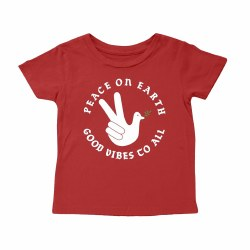 Peace on Earth SS Tee Red 2