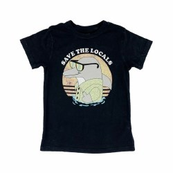 Save the Locals Tee Black 5