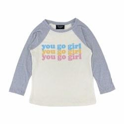 You Go Girl Raglan Nat 3