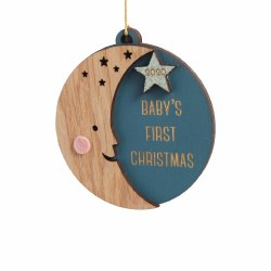 Baby's First Christmas Moon Ornament