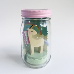 Mason Jar Solar Light Unicorn