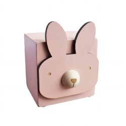 Music Box Menagerie Bunny Pink