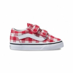 Old Skool V Gingham Red 5