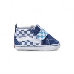 SK8-Hi Crib Shoe Check Navy 2