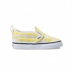 Slip-On V Gingham Yellow 9