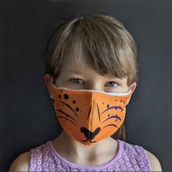 Cheetah Face Mask 3-5Y