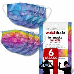 Kids Face Masks Tie Dye