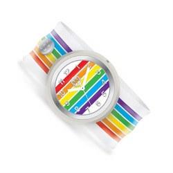 Slap Watch Rainbow Stripes