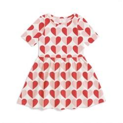 Alberta Dress Heart Rd/Pk 2T