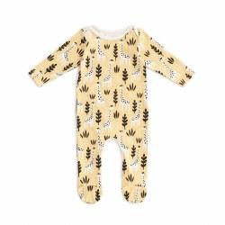 Footie Giraffes Pl Yellow 0-3M