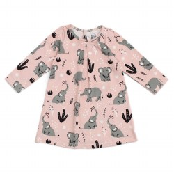 Aspen Dress Elephants 3-6M