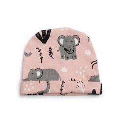 Baby Hat Pink Elephant 0-3M