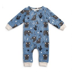 FT Jumpsuit Bl Elephants 12-18