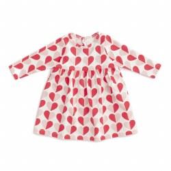 Geneva Dress Heart Rd/Pk 3-6M