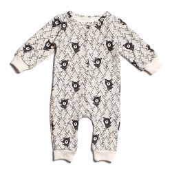 FT Jumpsuit Bears Black 3-6M