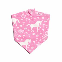 Kerchief Bib- Magical Unicorn Forest Pink