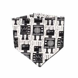 Kerchief Bib Robots Black