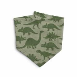 Kerchief Bib Dinosaurs Sage
