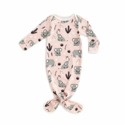 Knot Gown Elephant Pink 3-6M