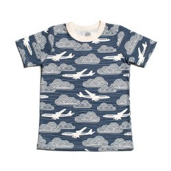 SS Tee In Clouds Navy 2
