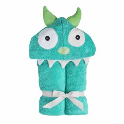 Hooded Towel- Turqouise Blue Monster