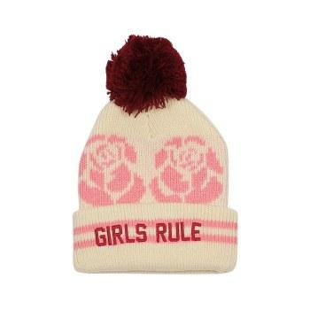 Girls Rule Pom Beanie L/6-10Y
