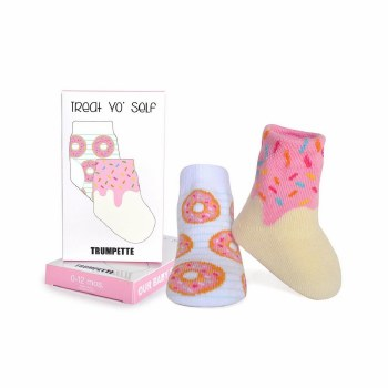 Treat Yo' Self Donut Socks 0-12M