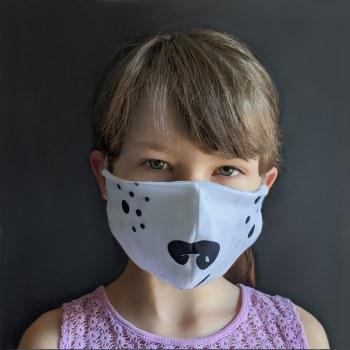 Polar Bear Face Mask 6Y+