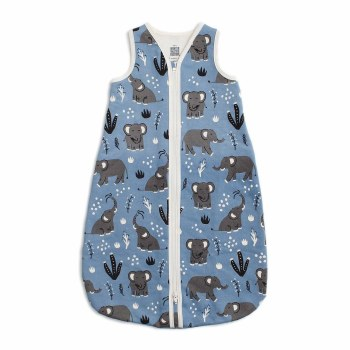Sleep Bag Blue Elephants 6-12M