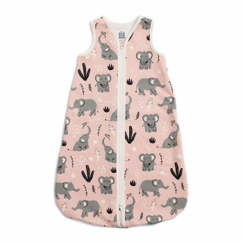 Sleep Bag Pink Elephants 6-12M