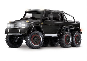 BACK ORDER AVAIALBLE - Traxxas TRX-6 1/10 6x6 Trail Crawler Truck w/ Mercedes Benz G 63 AMG Body (Black)
