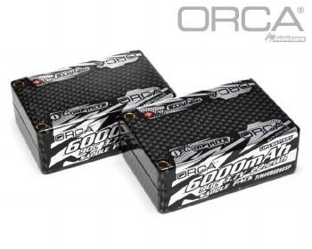 "ORCA 7.4V 6000mah 2S 90C ""Saddle Pack"" Lipo Battery"