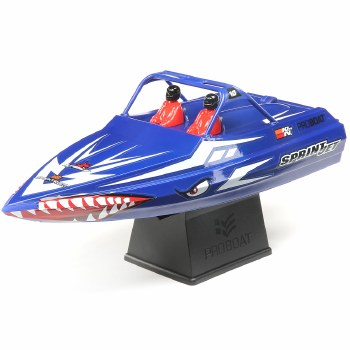 """ProBoat Sprinjet 9"""" Self-Righting Ready to Run Electric Jet Boat (Blue)"""