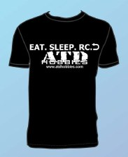 ATD Hobbies Eat, Sleep, Play, Repeat Short Sleeve T-Shirt (Black) (MED)