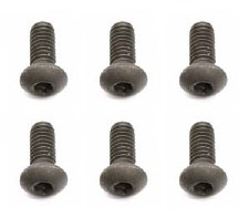 Associated Factory Team Button Head Cap Screws - M2.5x.45x6mm (6)