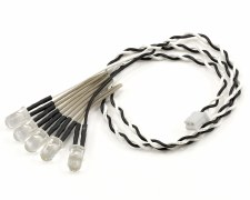 Axial 5 LED White Light String